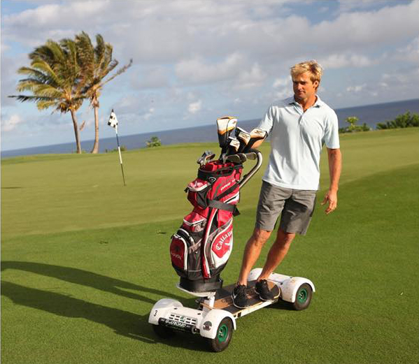 Stock image of a person on a GolfBoard
